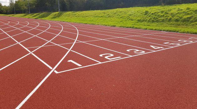 CONICA CONIPUR SP RETOP system used in refurbishment Bingham athletics track
