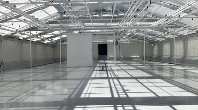 CONIFLOOR IPS resin flooring installed at Cannabis medical factory