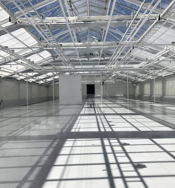 CONIFLOOR IPS resin flooring installed at Cannabis medical factory