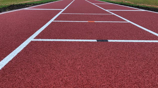 CONICA CONIPUR SP installed as new long jump surfacing at Bourne Grammar School