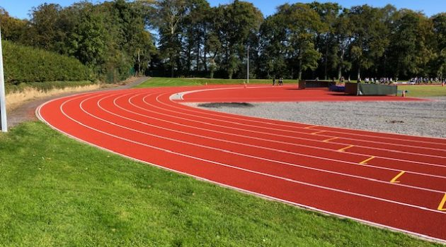 CONICA CONIPUR SP installed at athletics track in Dunboyne