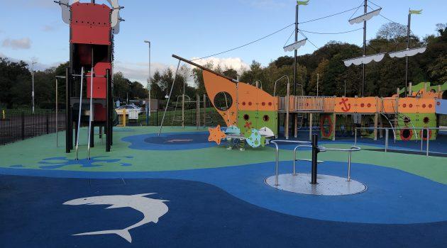Outdoor wet pour EPDM at Antrim Lough Shore Play Park