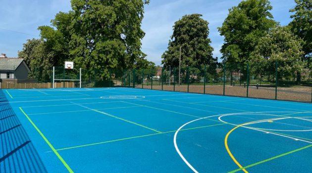 CONIPUR SP Sky Blue polymeric system Moor Allerton Primary School